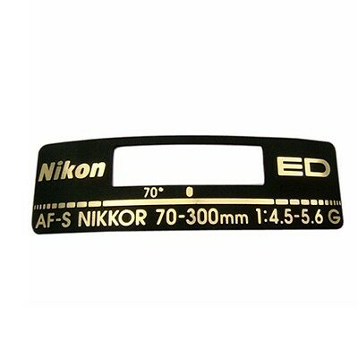 Name Plate Badge Repair Part For Nikon AF-S Nikkor 70-300mm 1:4.5-5.6G ED Lens