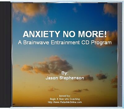 ANXIETY NO MORE CD +  SELF CONFIDENCE HYPNOSIS CD (2 CD pack NEW)
