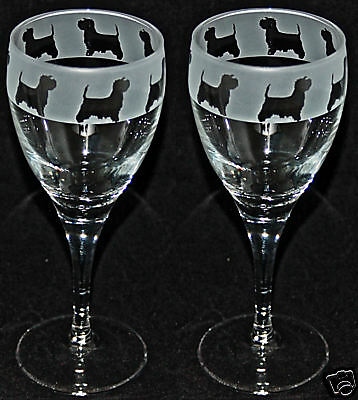 WEST HIGHLAND TERRIER FRIEZE - Boxed PAIR WINE GLASS *DOG GIFT*