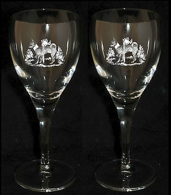 SMOOTH COAT CHIHUAHUA GIFT - Boxed PAIR WINE GLASS *DOG GIFT*