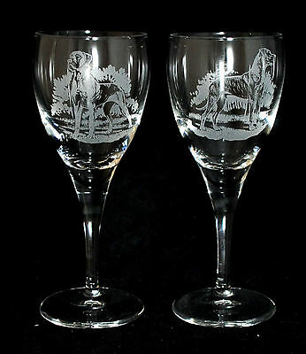 GREAT DANE GIFT - Boxed PAIR WINE GLASS *DOG GIFT*