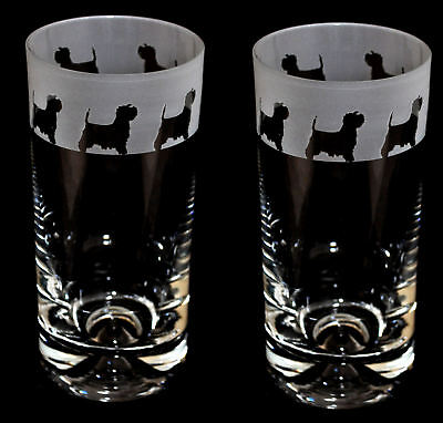 WEST HIGHLAND FRIEZE *DOG GIFT* Boxed PAIR GLASS HIGHBALL TUMBLER