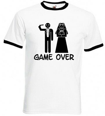 Fun T-Shirt - Ringer T - Fruit Of The Loom  - Game Over......