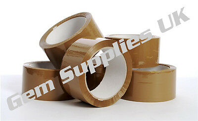 36 Rolls of Brown Packaging / Parcel Tape - 48mm x 66 Metres