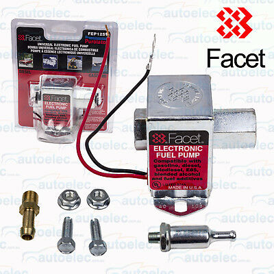 Facet Fep12Sv Electric Fuel Pump 12V 12 Volt  Universal132 Lph 7Psi New Pressure