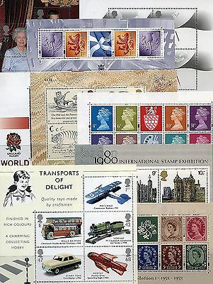 GB 1978 - 2005 Miniature Sheets mnh. EVEN CHEAPER IF YOU BUY ANY OTHER SHEET