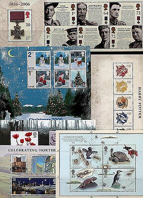GB 2006 - 2011 Miniature Sheets U/M. EVEN CHEAPER IF YOU BUY ANY OTHER SHEET