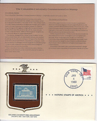 Columbia University 200th Anniversary Collectible Stamp & Envelope