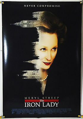 THE IRON LADY DS ROLLED ORIG 1SH MOVIE POSTER MERYL STREEP OSCAR WINNER (2011)