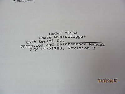 AUSTRON 2055A - Phase Microstepper - Operation & Maintenance Manual