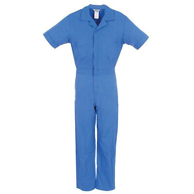 Short Sleeve Coveralls Blue Small