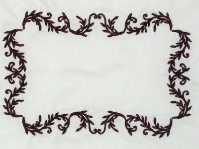 Filigree Embroidered Quilt Label Customize for quilt tops or blocks