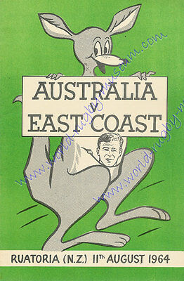 EAST COAST v AUSTRALIA 11th August 1964 SUPERB RUGBY POSTER - A2 SIZE