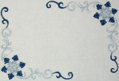 Winter Snowflake Embroidered Quilt Label Customize for quilt tops or blocks