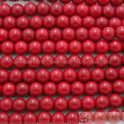 Red Howlite Turquoise Gemstone Round Beads 2mm 3mm 4mm 6mm 8mm 10mm 12mm 16""