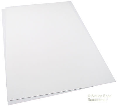 2 Large Sheets 2mm Matt White Plasticard (80 Thou) Size A3+ Styrene Thick HIPS