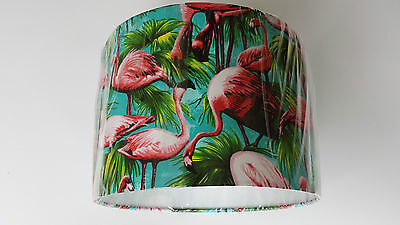 "12""/30CM  LAMPSHADE MADE from Designer Fabric...PINK FLAMINGO ."