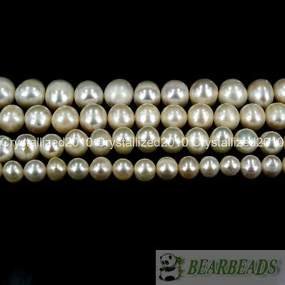 """Natural White Freshwater Pearl Round Beads 5mm 6mm 7mm 8mm 9mm 10mm 11mm 16"""""""