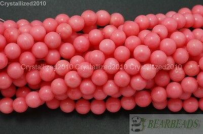 Natural Pink Coral Gemstone Round Ball Spacer Beads 3mm 4mm 5mm 6mm 8mm 16""