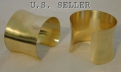 Brass Concaved Bracelet Cuff Blanks  2 inch Pkg Of 12