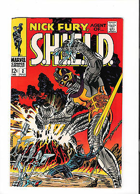 NICK FURY AGENT OF SHIELD #2 Grade 8.0 Silver Age gem from Marvel!