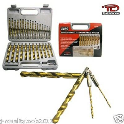 30pc Hex Shank Titanium Drill Bit Set (Quick Change)