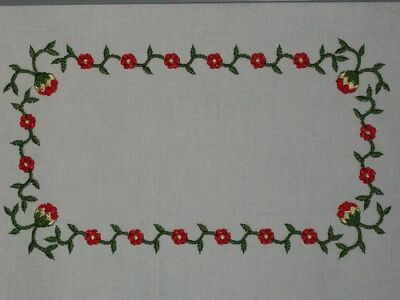 Whig Rose Embroidered Quilt Label Customize for quilt tops or blocks