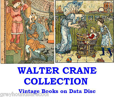 Walter Crane Collection Vintage Childrens Colour Illustrated Books on Data Disc