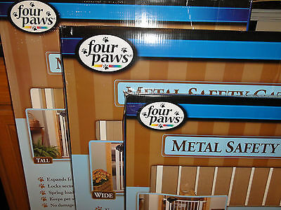 Four Paws Metal Safety Gate (3-Sizes