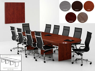 FOOT Modern Expandable Racetrack Oval Conference Table MODERN - 20 foot conference table