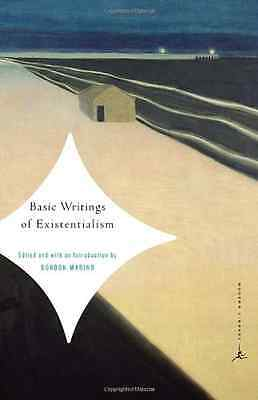 Basic Writings of Existentialism (Modern Library Classi - Paperback NEW Marino,