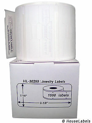 1 Roll of 1,500 Jewelry Labels (Barbell Style) For DYMO® LabelWriters® 30299