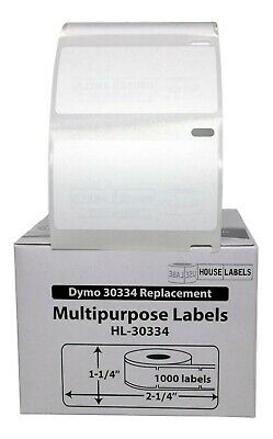 1 Roll of 1,000 Medium Multipurpose Labels for DYMO LabelWriters 30334