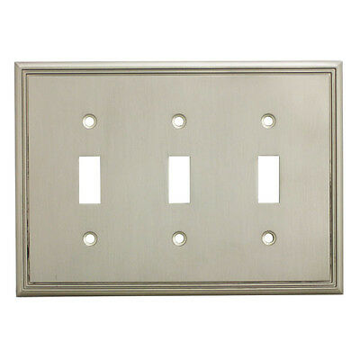 Satin Nickel Triple Toggle Decorative Wall Switchplate Cover 65005-SN