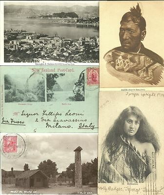 HUGE lot 8 photos + 4 postcards New Zealand 1899-60s