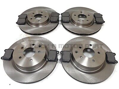 For Nissan 350Z 3.5 V6 03-09 Front & Rear Brake Discs & Mintex Pads