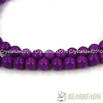 Purple Howlite Turquoise Gemstone Round Beads 2mm 4mm 6mm 8mm 10mm 12mm 16''