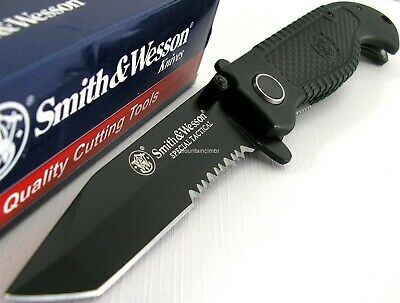 Smith & Wesson Special Tactical Pocket Folder Tanto Knife SWTACBS