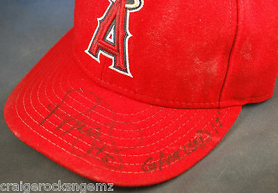 Albert Pujols Angels 2012 Game Used Signed Autographed Hat PSA/DNA Authentic