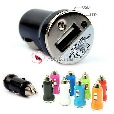 2 x Mini Universal USB Port 12V Car Charger Cigarette Socket Adapter For Phone