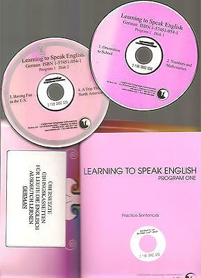 #1 ESL Audio CD + BK Learn ENGLISH FOR GERMAN SPEAKERS FOREIGN LANGUAGE