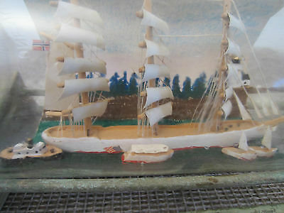 Vintage, Maritime Three Masted Ship In Bottle