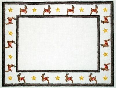 Reindeer Quilt Label Customize for quilt tops or blocks