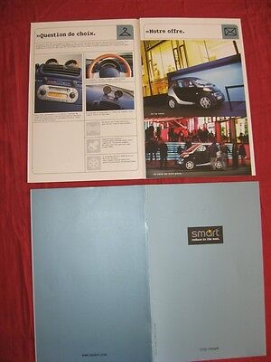 N°4161 / catalogue en français automobile SMART  fevrier 1998