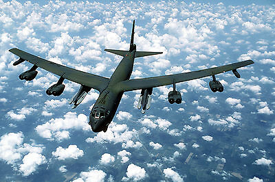 An Air to Air View of a B-52G Stratofortress-Colorful-Oversize 8x12 Print