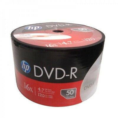 500-Pack HP 16X Logo Blank DVD-R DVDR Recordable Disc FREE EXPEDITED SHIPPING