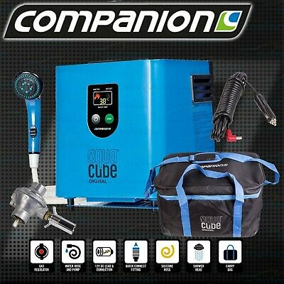 Companion Aqua Cube Digital Portable Gas Outdoor Camping Shower Hot Water System