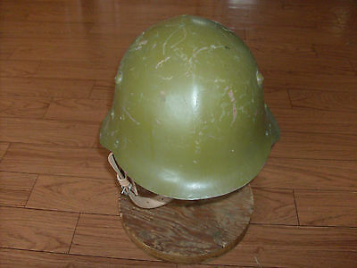 Wwii M/36 Cold War Bulgarian Helmet And Liner With Chin Strap.