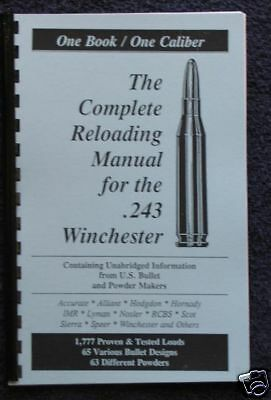 .243 Winchester Reloading Manual LOADBOOKS USA   243 Win  Latest Ed. NEW
