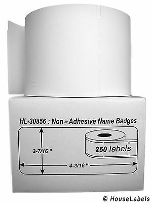 1 Roll of 250 Non-Adhesive Name Badges for DYMO® LabelWriter® 30856